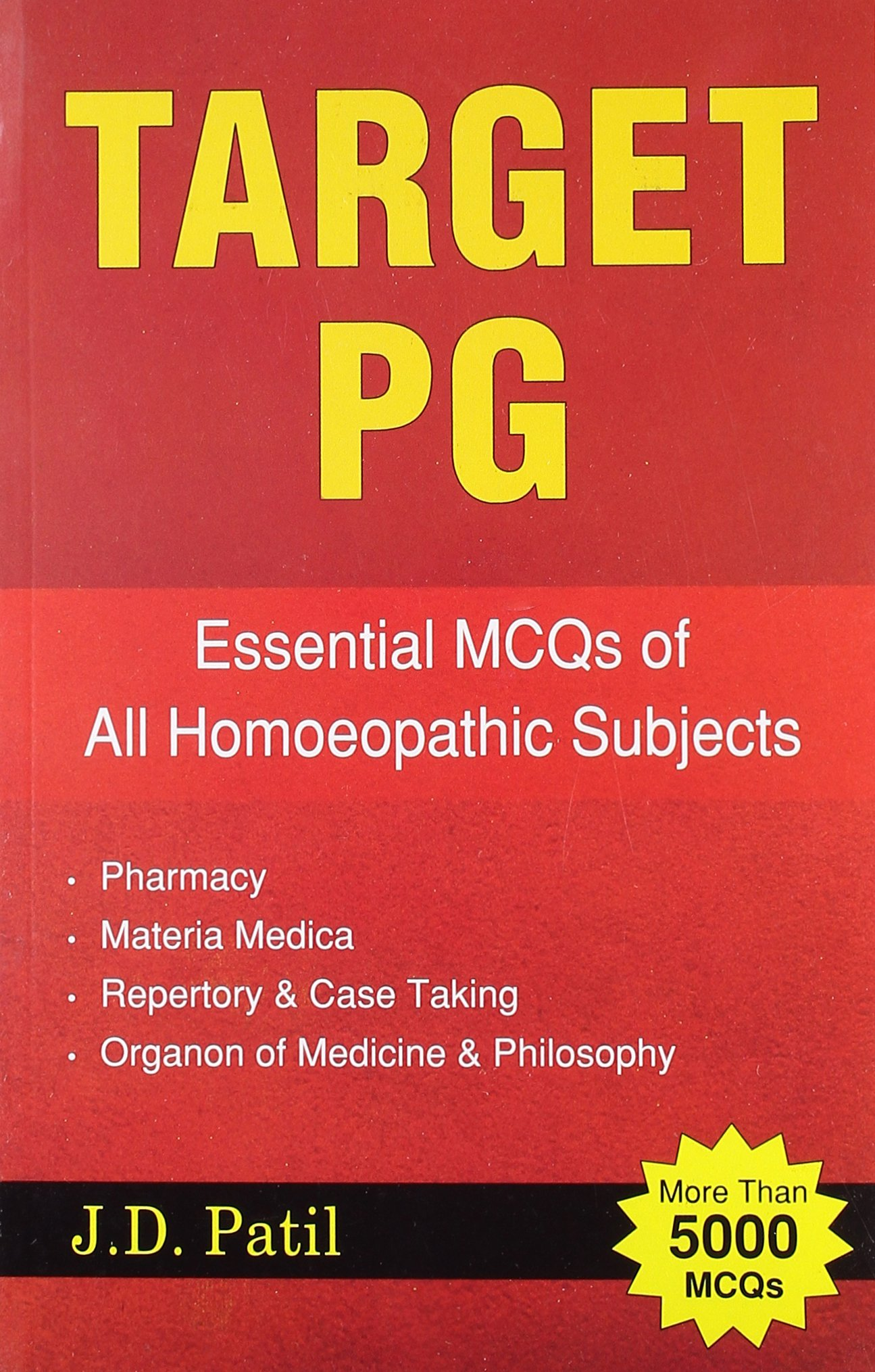 Target PG - Essential MCQs of all Homeopathic Subjects (more than 5000 MCQs) pdf epub