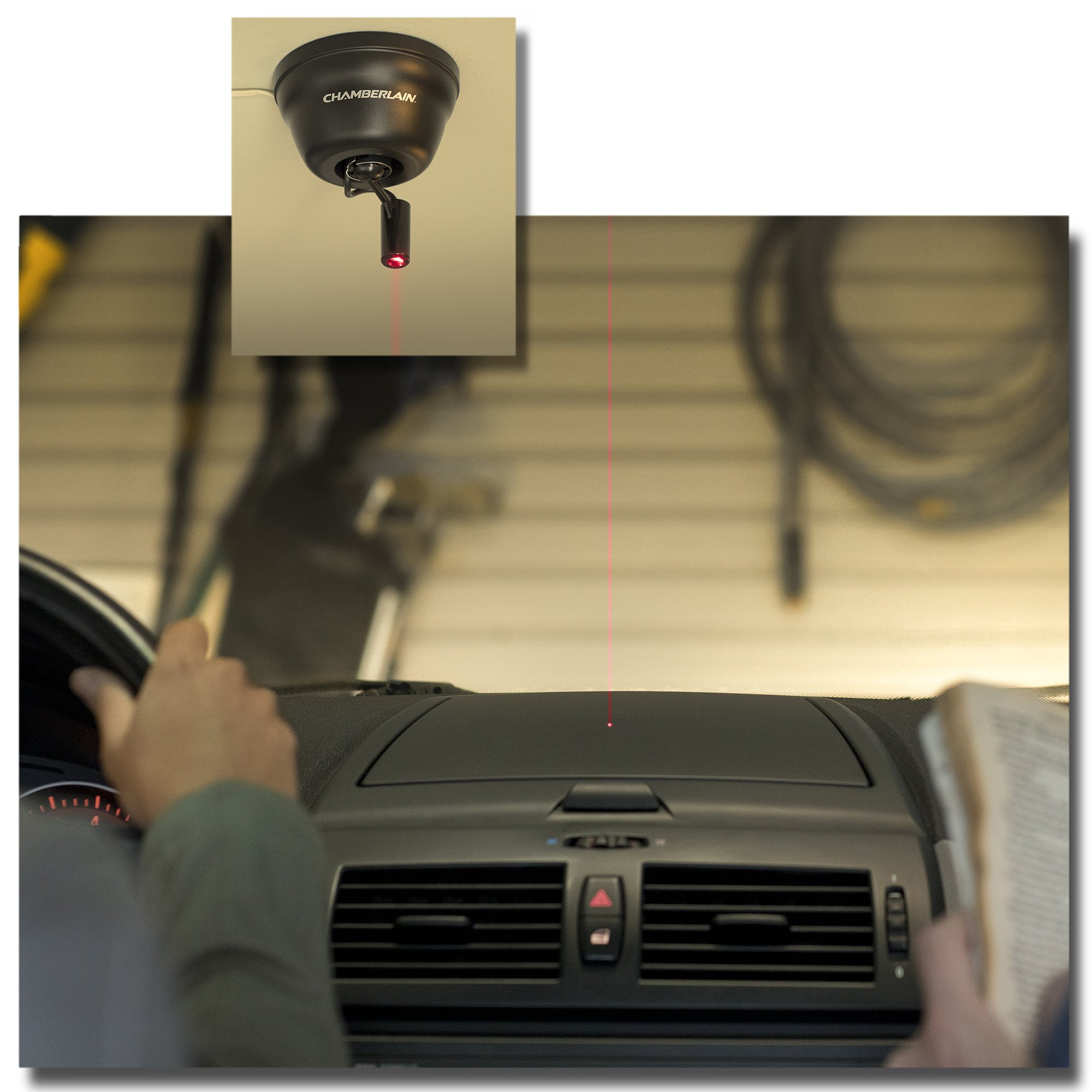 Chamberlain Universal Garage Parking Aid/Assistant CLULP1, Laser Identifies Perfect Parking Spot, Works with Chamberlain, LiftMaster, Craftsman, Genie and All Other Brands of Garage Door Openers by Chamberlain (Image #6)