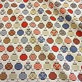 Stoff Baumwollstoff Meterware Japan Lampions rot blau Seigaiha Asanoha Neu 2017