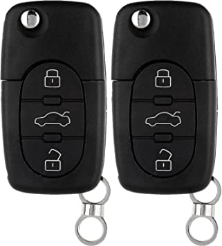 ECCPP Replacement fit for Uncut Keyless Entry Remote Key Fob Audi Series 4D0837231E Pack of 1