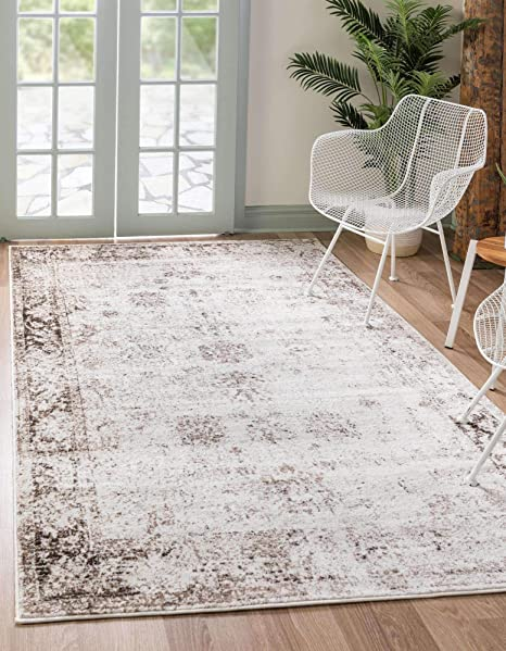 Unique Loom Sofia Collection Traditional Vintage Area Rug 9 X 12 Ivory Brown Furniture Decor