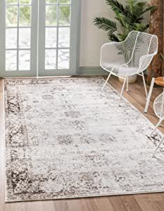 Unique Loom Sofia Traditional Area Rug_SOF001, 4 x 6 Feet, Ivory/Brown