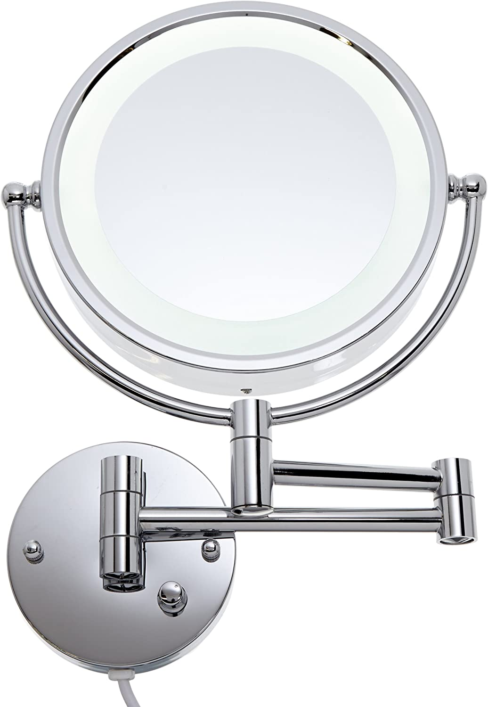 Loywe LED Beleuchtet wundersch/öne Kosmetikspiegel f/ür die Wandmontage 3 hohe Vergr/ö/ßerungsgrade w/ählbar JL37 10Fach