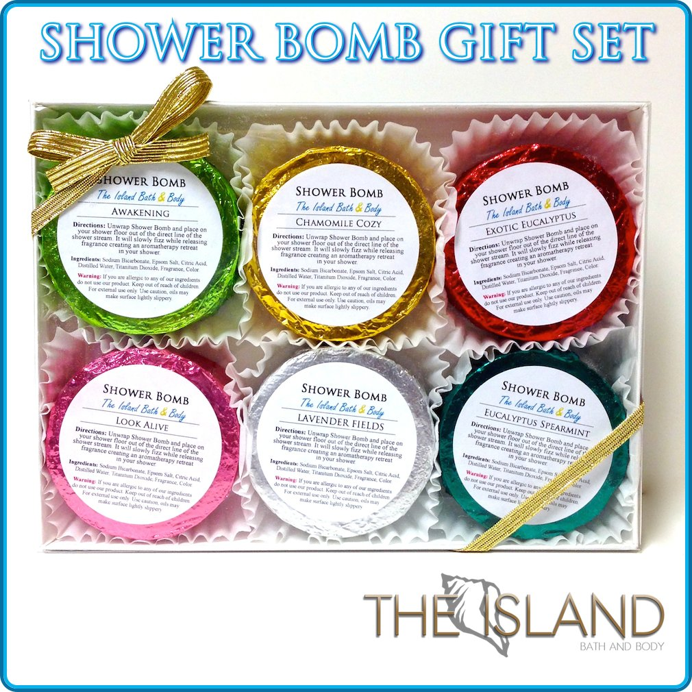 Amazon.com : Natural Shower Bomb Aromatic Gift Set 6 Varieties Per Pack :  Beauty