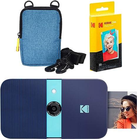 KODAK Smile Impresora Digital instantánea (Azul) Soft Case Kit ...
