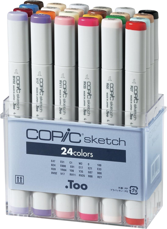Copic - 21075524 - Set de 24 rotuladores para dibujo: Amazon.es: Oficina y papelería