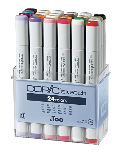 amazon com copic markers sb24 24 piece sketch set basic