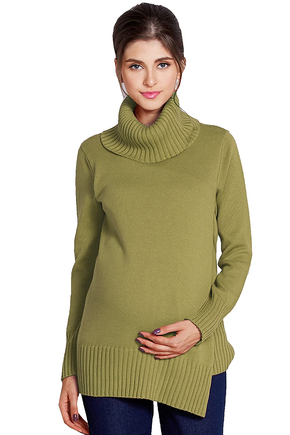 Sweet Mommy Organic Cotton Tutleneck Knit Tunic Top Sweet Mommy Co. Ltd. mk4045