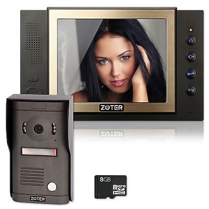 Amazon Zoter 8 Inch Color Lcd Wired Video Door Phone Doorbell