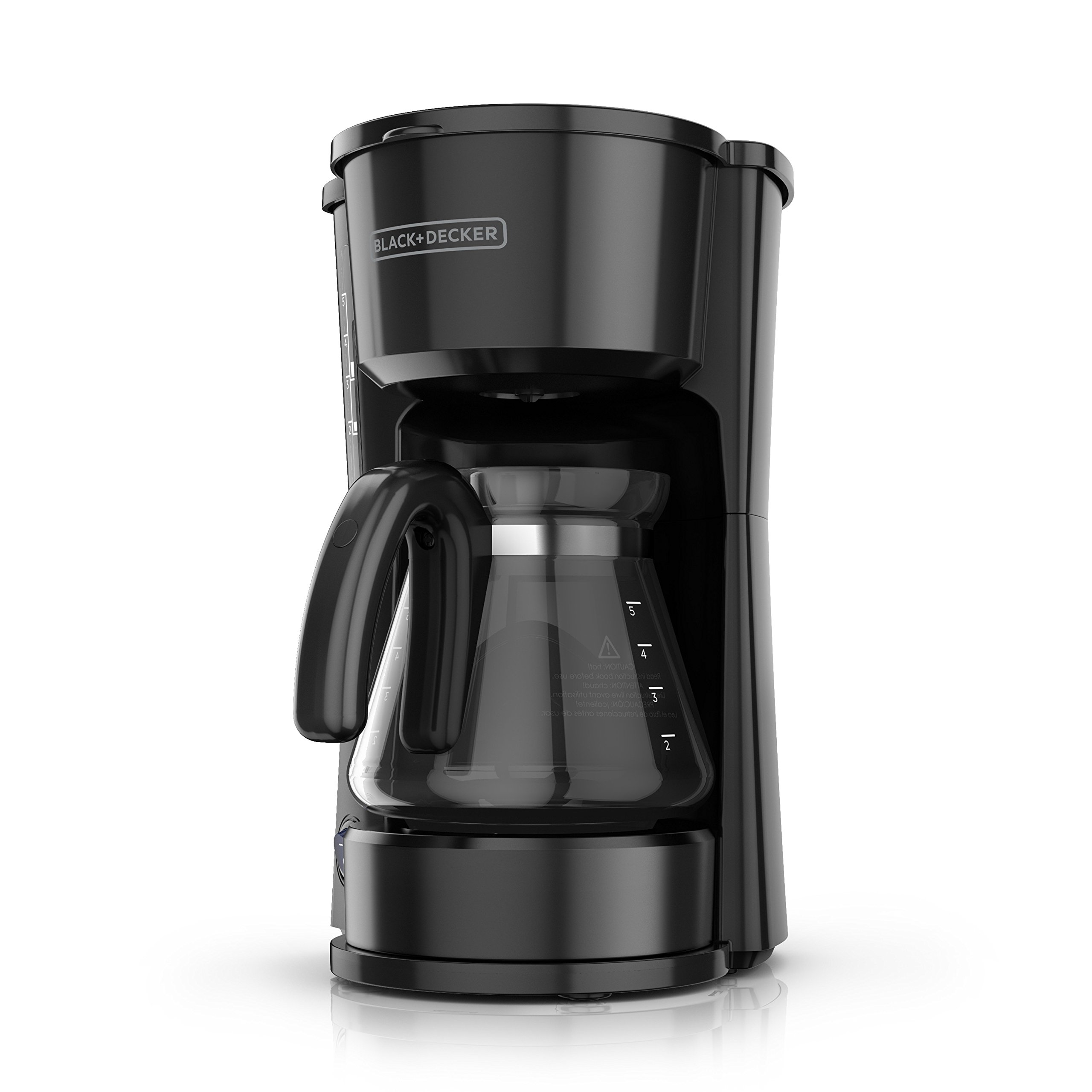 BLACK+DECKER CM0755BZ 4-in-1 Coffee Maker, 5 Cups, Black