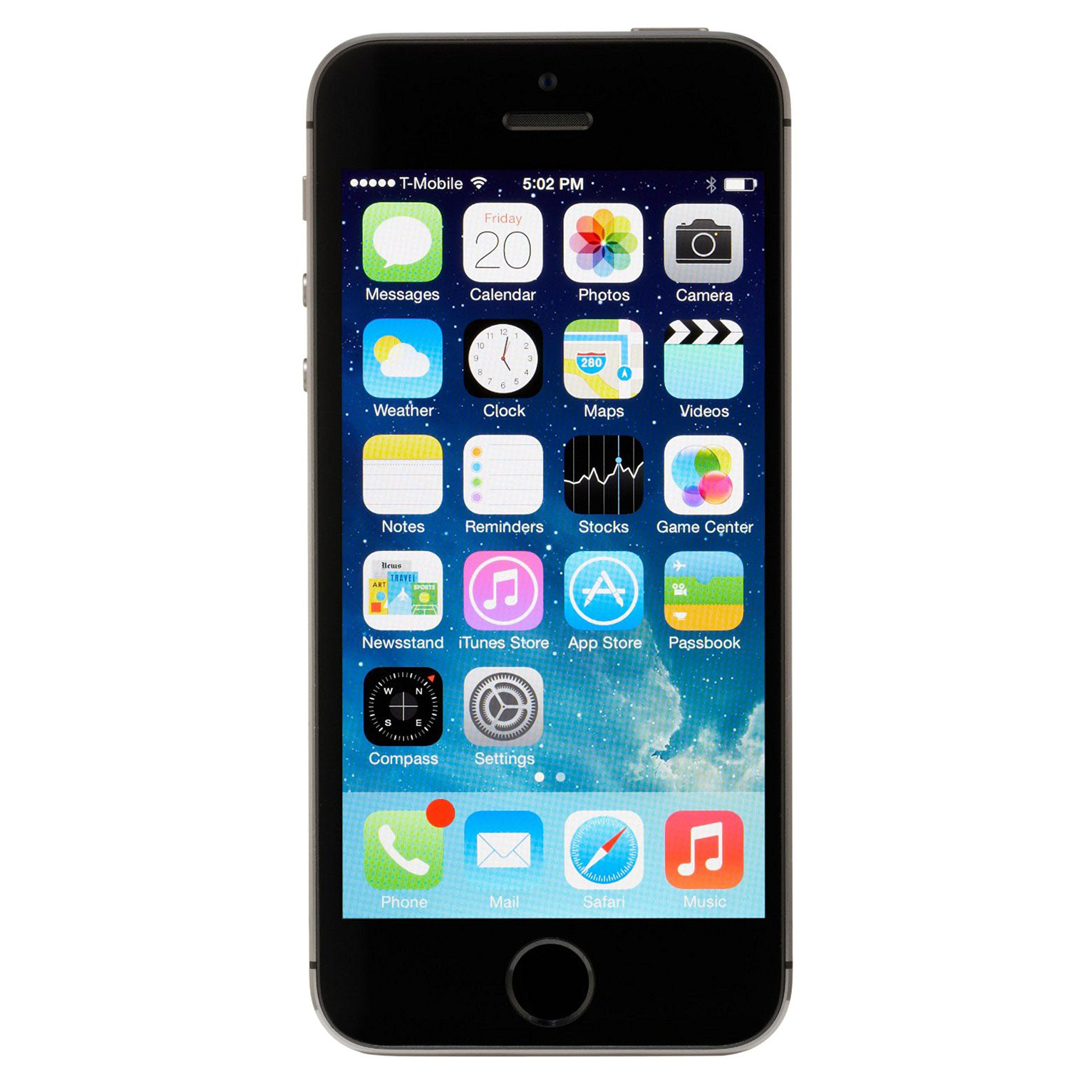 Apple iPhone 5S 16GB GSM Unlocked, Space Gray (Refurbished) by Apple (Image #1)