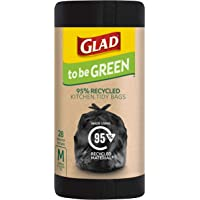 Glad to be Green 95% Recycled Wavetop Bin Liners, Medium, Pack of 28