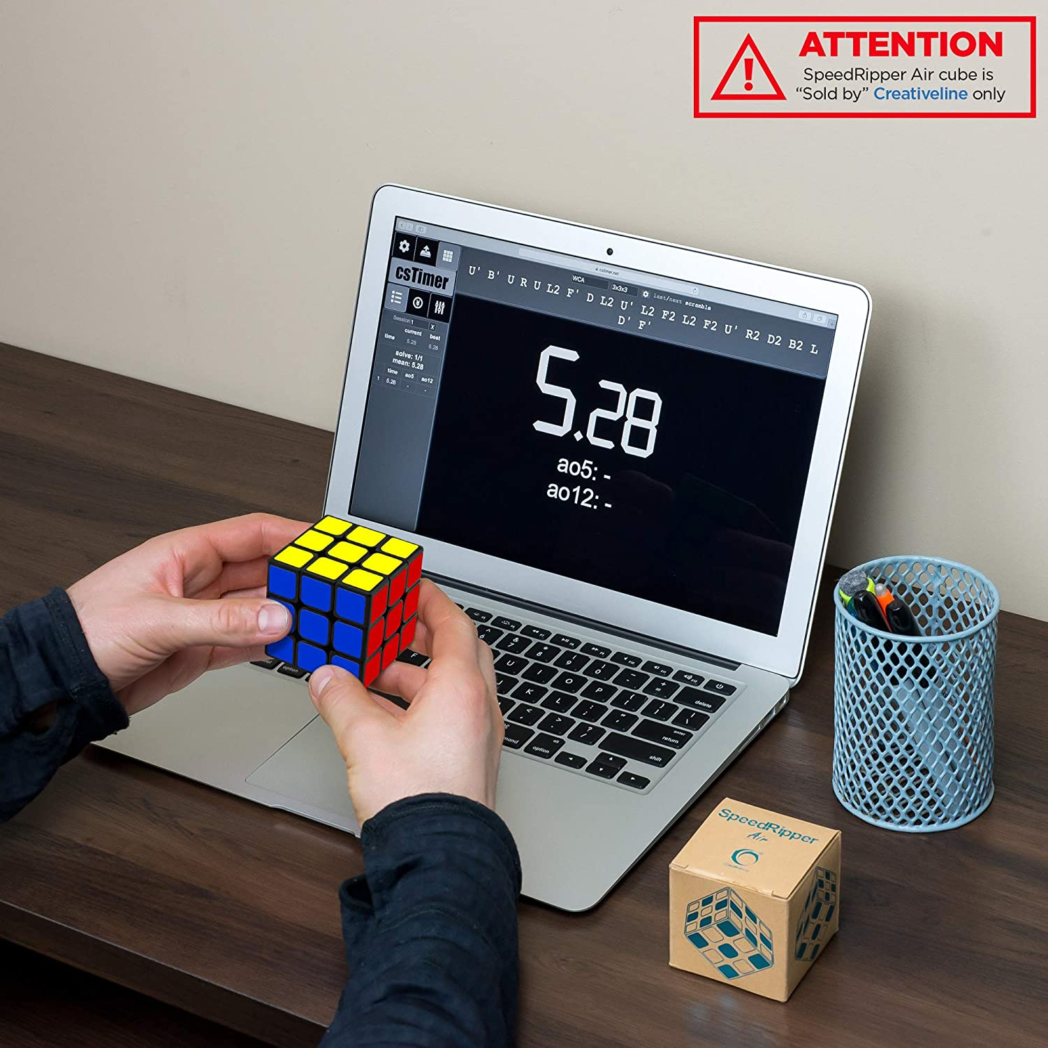 Buttery Smooth Turning Sturdy and Well-Made Ultimate Gift for Professional Cubers SpeedRipper Air: Tournament Black Rubiks 3x3 Speed Cube Best Logic Games Puzzle Magic Toy for Kids