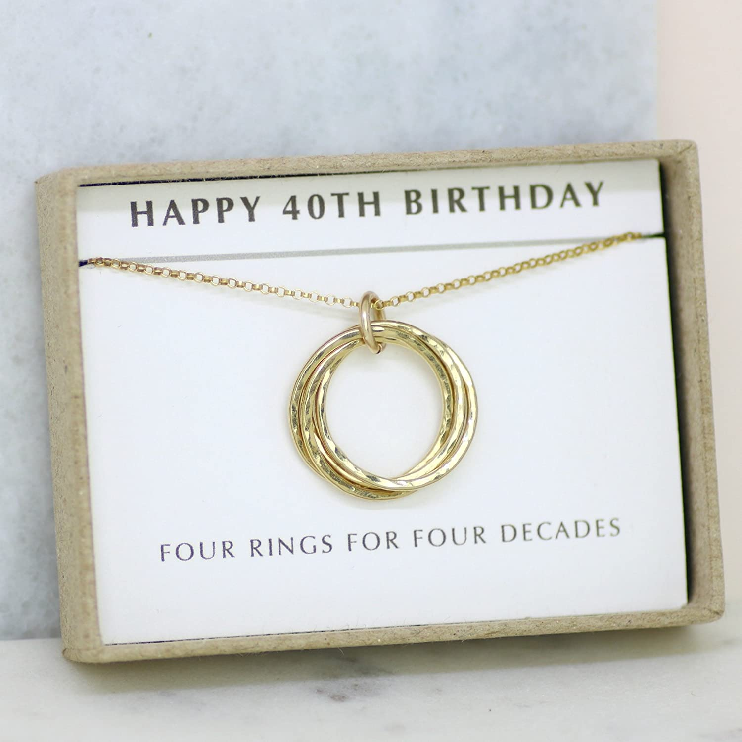 Amazon 40th Birthday Gift Necklace Sister Mom