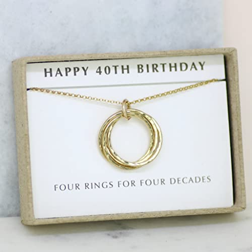 40th Birthday Gift Necklace Sister Mom