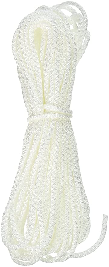 Cordage Source 4022P Braided Nylon Rope, 1/8-Inch by 50-Feet, White