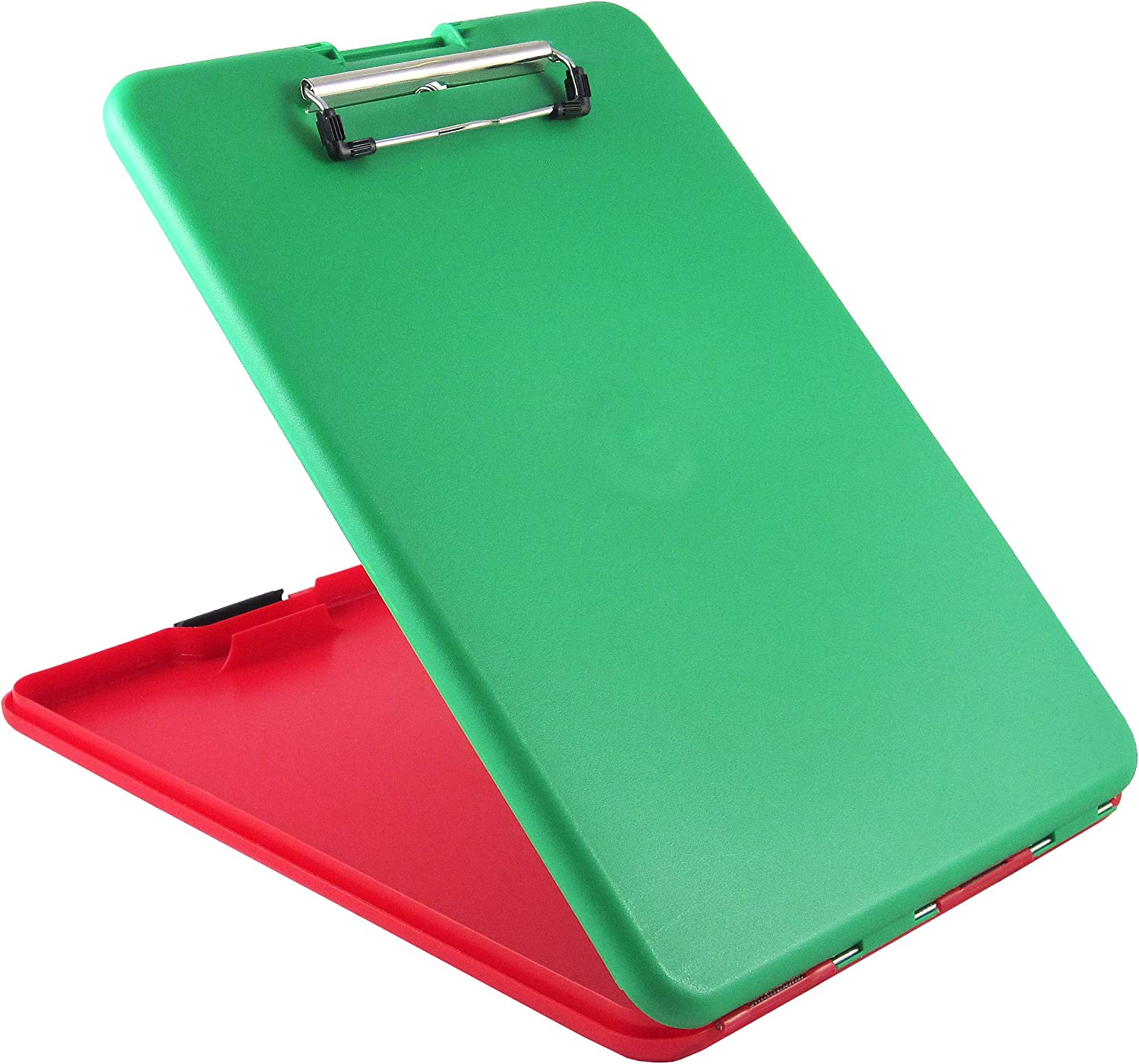 Saunders Red and Green Show2Know Safety Organizer Clipboard with Low Profile Clip for Drills and Emergenicies (00580)