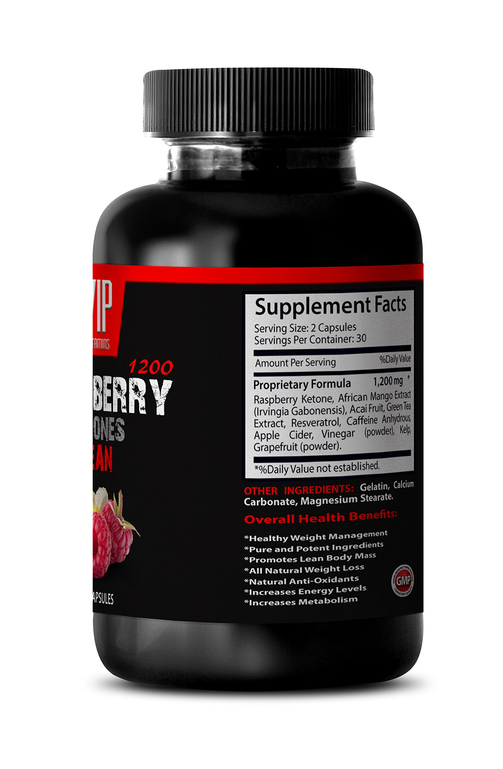 Blood sugar support supplements - RASPBERRY KETONES LEAN 1200 EXTRACT - Blood sugar support supplements - 6 Bottles 360 Capsules by VIP VITAMINS (Image #3)