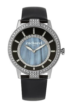edfb318fda Cacharel - CLD 009S/AA - Montre Femme - Quartz Analogique - Cadran Noir -