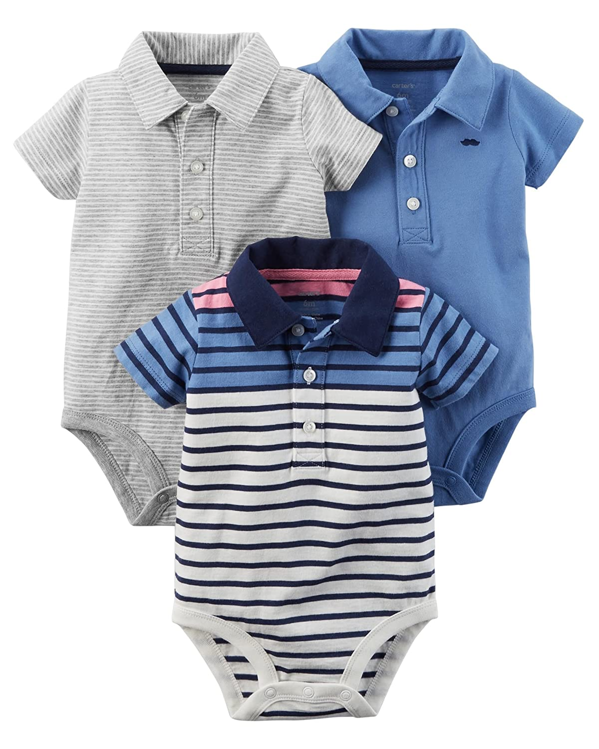 Carter's Baby-Boys 3 Pack Assorted Bodysuits Quidsi 127G101