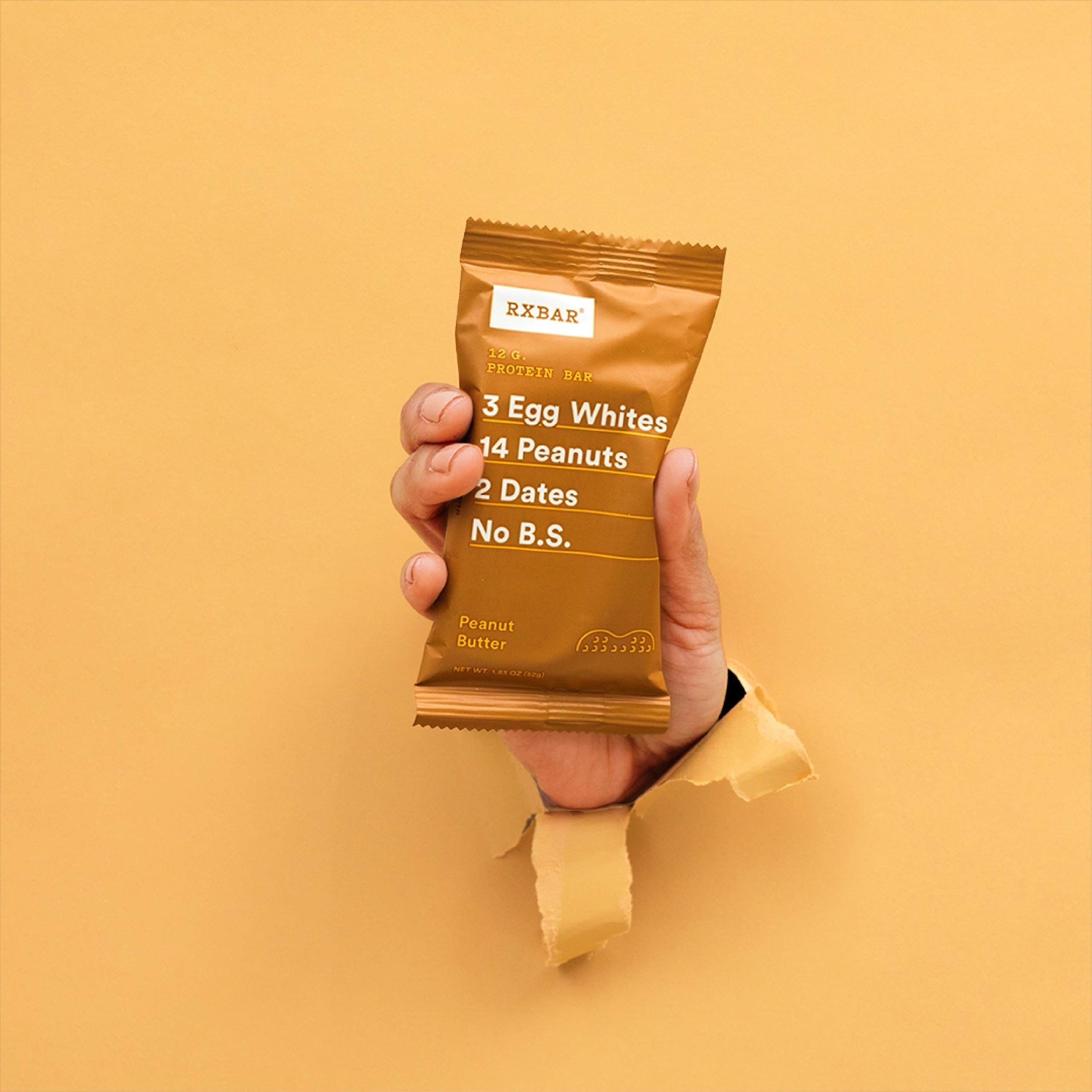 RXBAR Whole Food Protein Bar, Peanut Butter, 1.83 Ounce (Pack of 24) by RXBAR (Image #4)
