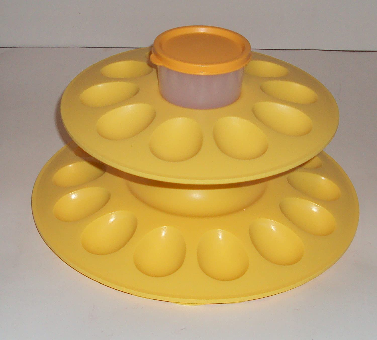 Tupperware EGG CEPTIONAL Deviled Tray Snack Dip Cup NEW