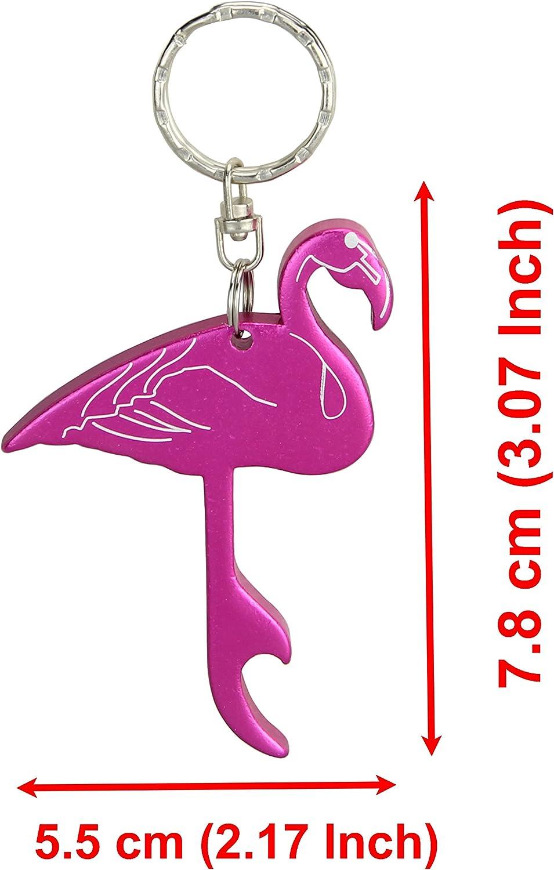 Flamingo Metal Bottle Opener Keyring Bar Rose Gold Beer Drink Gift