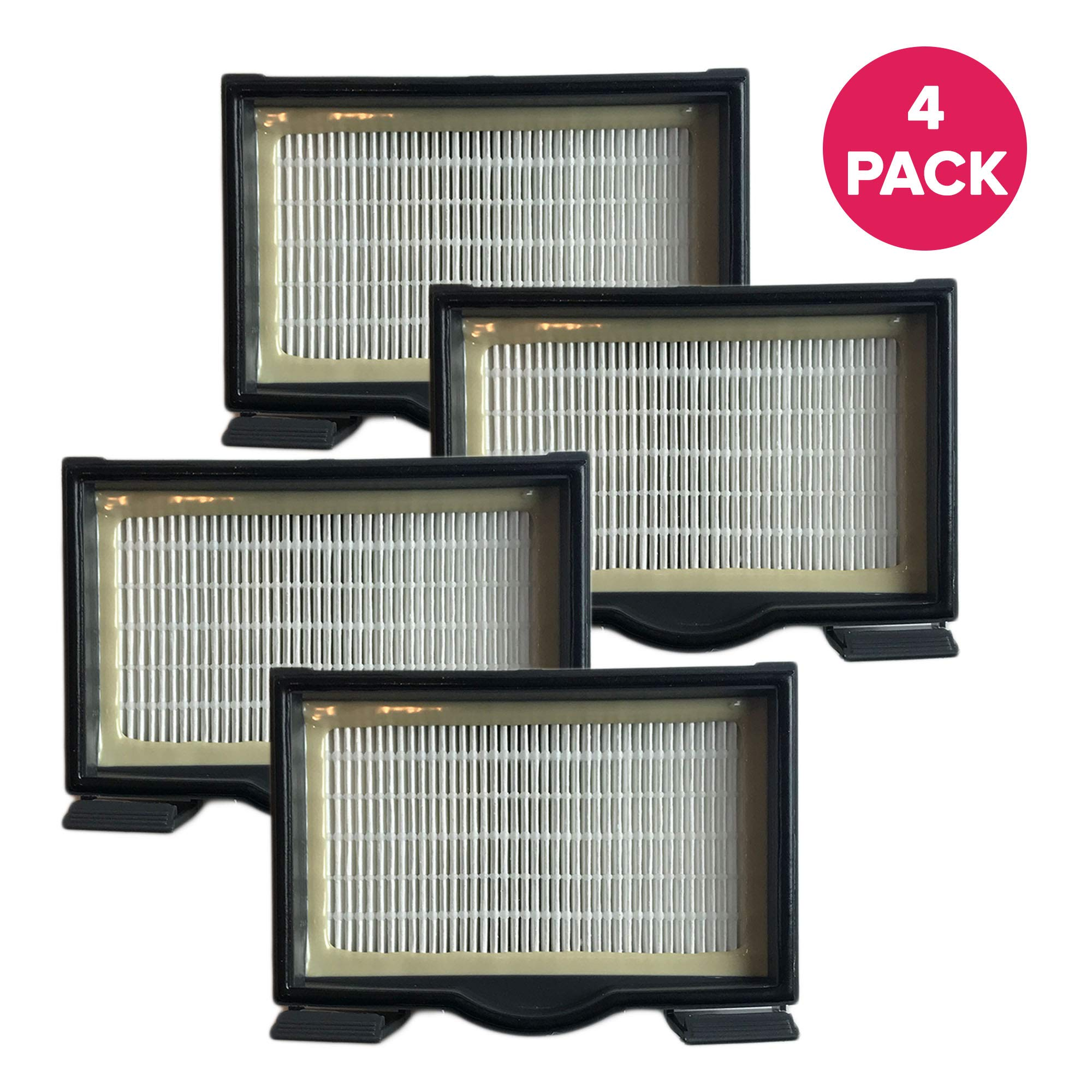 Crucial Vacuum Filter Replacement Parts Compatible with Eureka HF8 / HF-8 Part # 60666, 60666A, 60666B, Fits Sanitaire 3600 Series & Mighty Mite Series 3685, 3695 C - HEPA Style Filters (4 Pack) by Crucial Vacuum