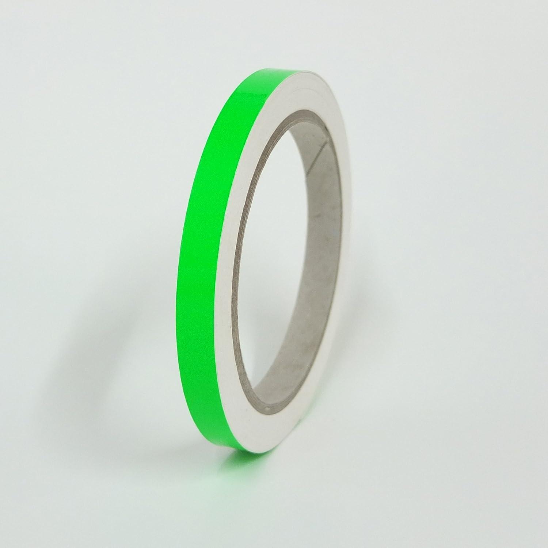 10m Rolle Fluoreszierend Signalfarbe 7mm CANOSIGN Zierstreifen Neon Gr/ün