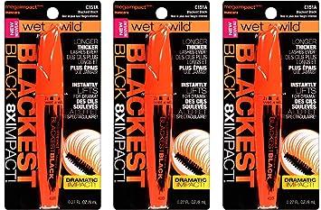 Amazon.com: Wet N Wild Mega Impact Mascara, C151A Blackest ...