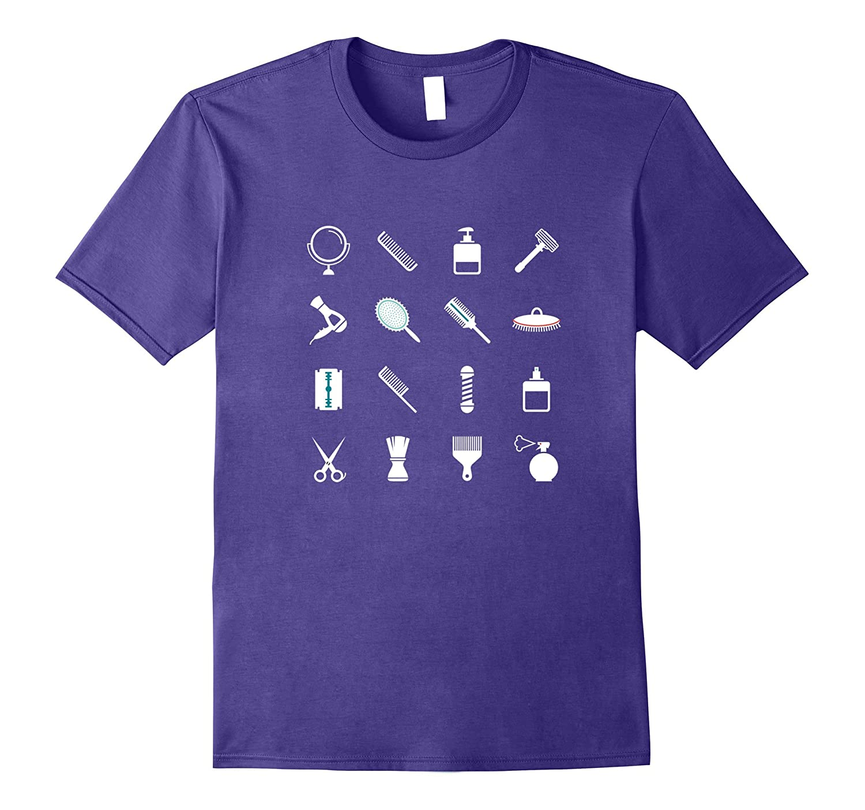 Barber T-Shirt Shop 16 Elements Fun Hair Stylist Fashion Tee-TJ