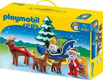 Geschenke Playmobil 1 2 3 Weihnachtsmann mit Rentierschlitten First-Smile & 1.2.3