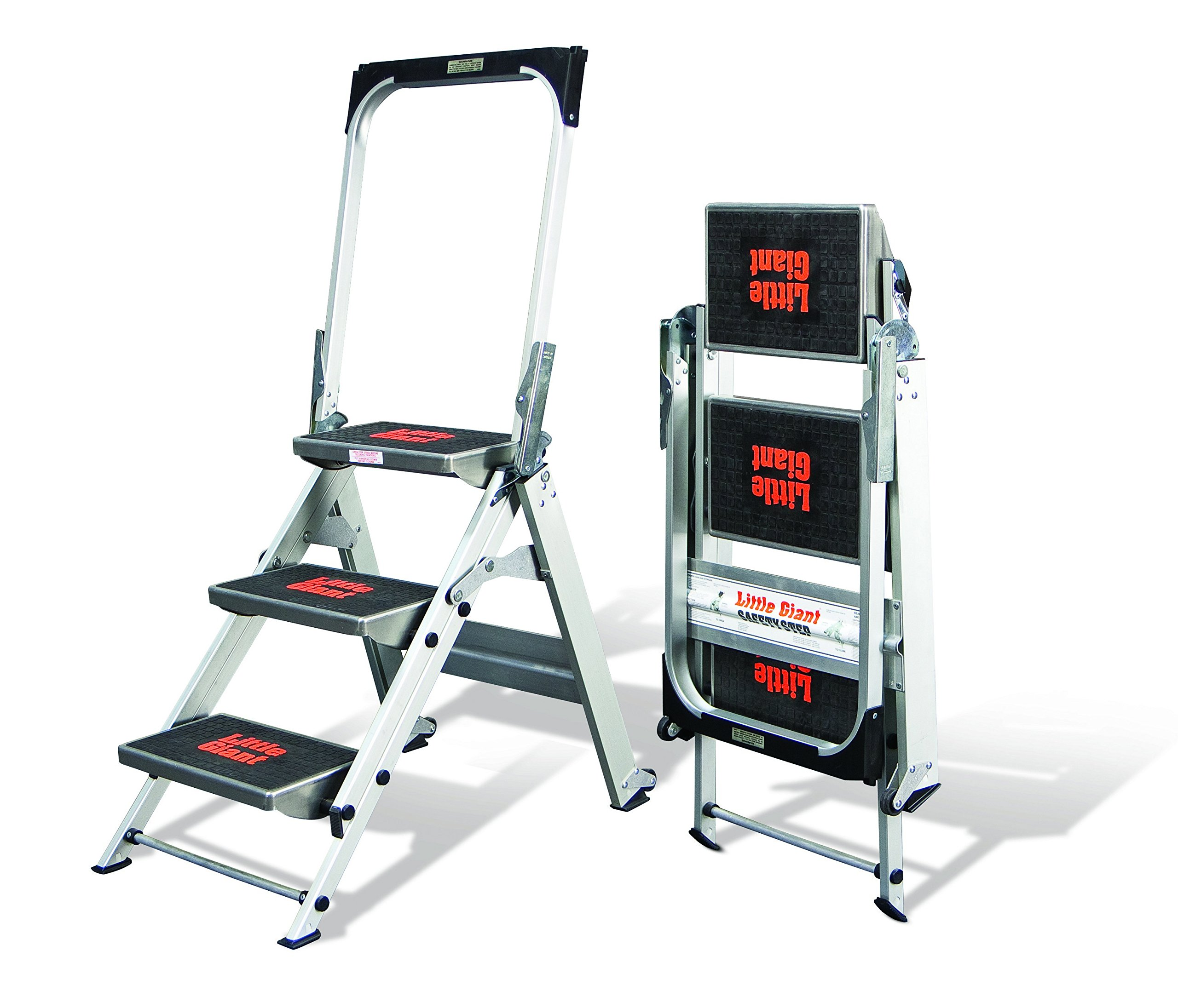 Little Giant, 3 step, Aluminum, 2-1/4 Feet, 300 lb. Capacity Stepladder by Little Giant Ladder Systems (Image #2)
