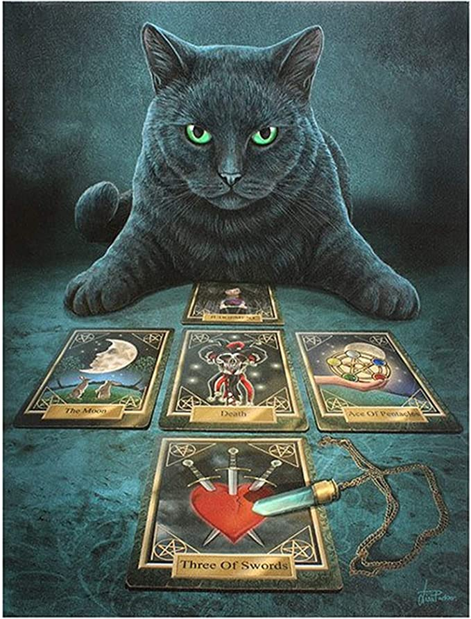 Amazon.com: Lisa Parker The Reader - Lienzo para gato, color ...