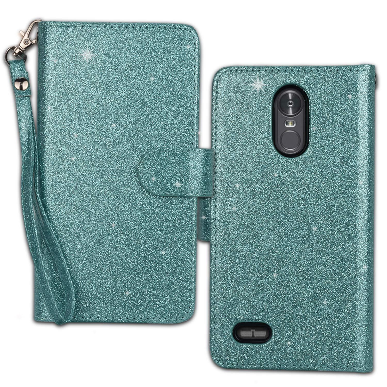 Ymhxcy LG Stylo 3 Wallet Case, LG Stylo 3 Plus Case,LG Stylus 3 Case,PU Leather [9 Card Slots][Detachable][Kickstand] Phone Case & Wrist Lanyard LG LS777-PT Mint by Ymhxcy (Image #2)