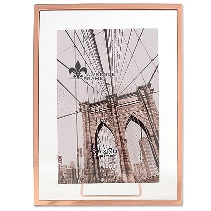 Amazon.com - Lawrence Frames Garett Metal Float, 5x7, Copper -