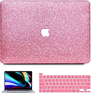 MacBook Pro 13 inch Case 2020 2019 2018 2017 2016 A2251 A2289 A2159 A1989 A1708 A1706, iPAPA Glitter Sparkly PC Hard Case + Keyboard Cover + Screen Protector for Mac Pro 13 with Touch Bar & Retina