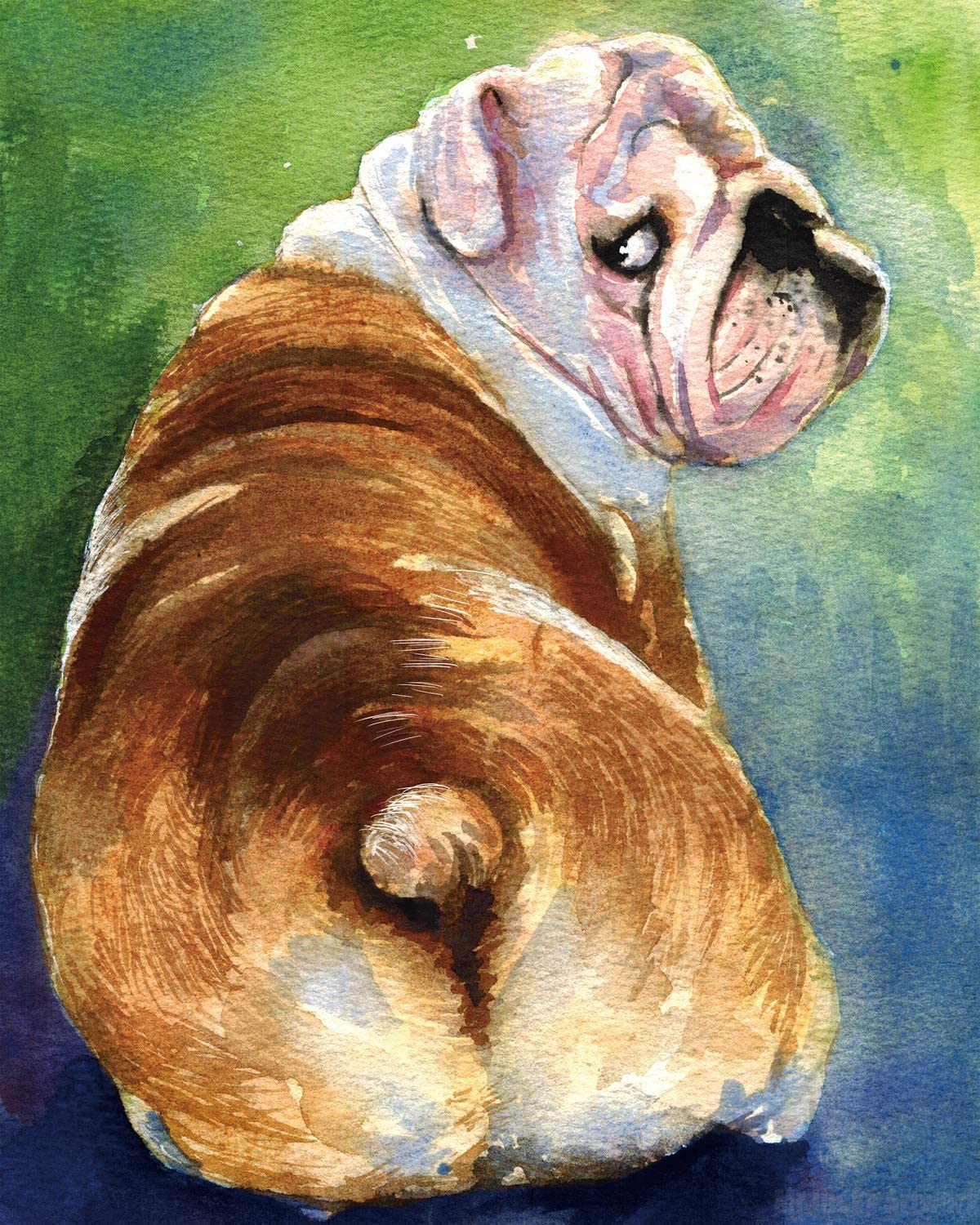"Mr.lucky Artwork Bulldog | English Bulldog Art Print | Bulldog Gifts | Bulldog Meme | 8x10"" and 11x14"" Sizes (11''x14'')"