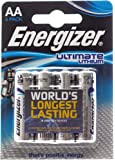 Energizer Ultimate Lithium - Pilas AA, pack de 4