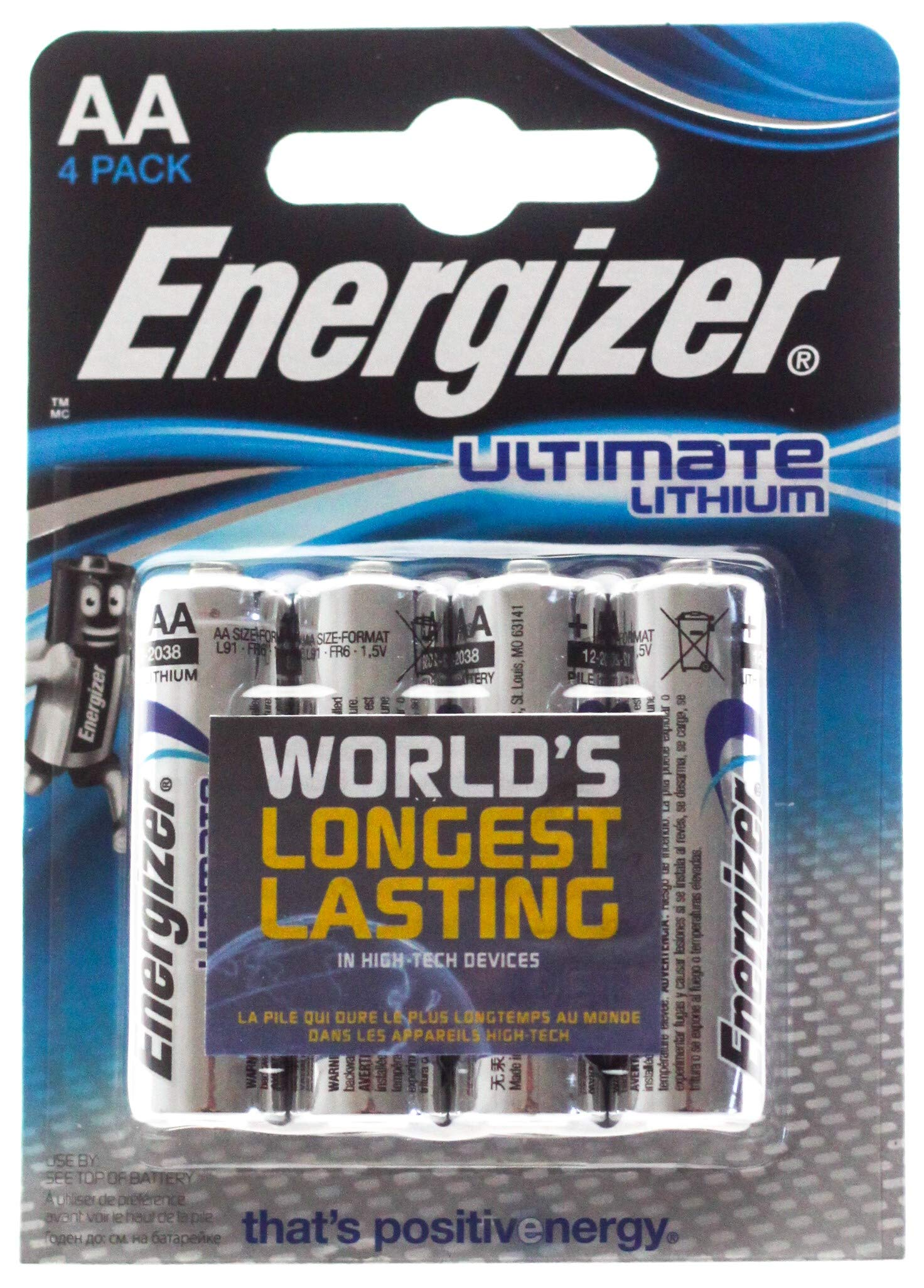 Energizer Ultimate Lithium - Pilas AA, pack de 4 product image