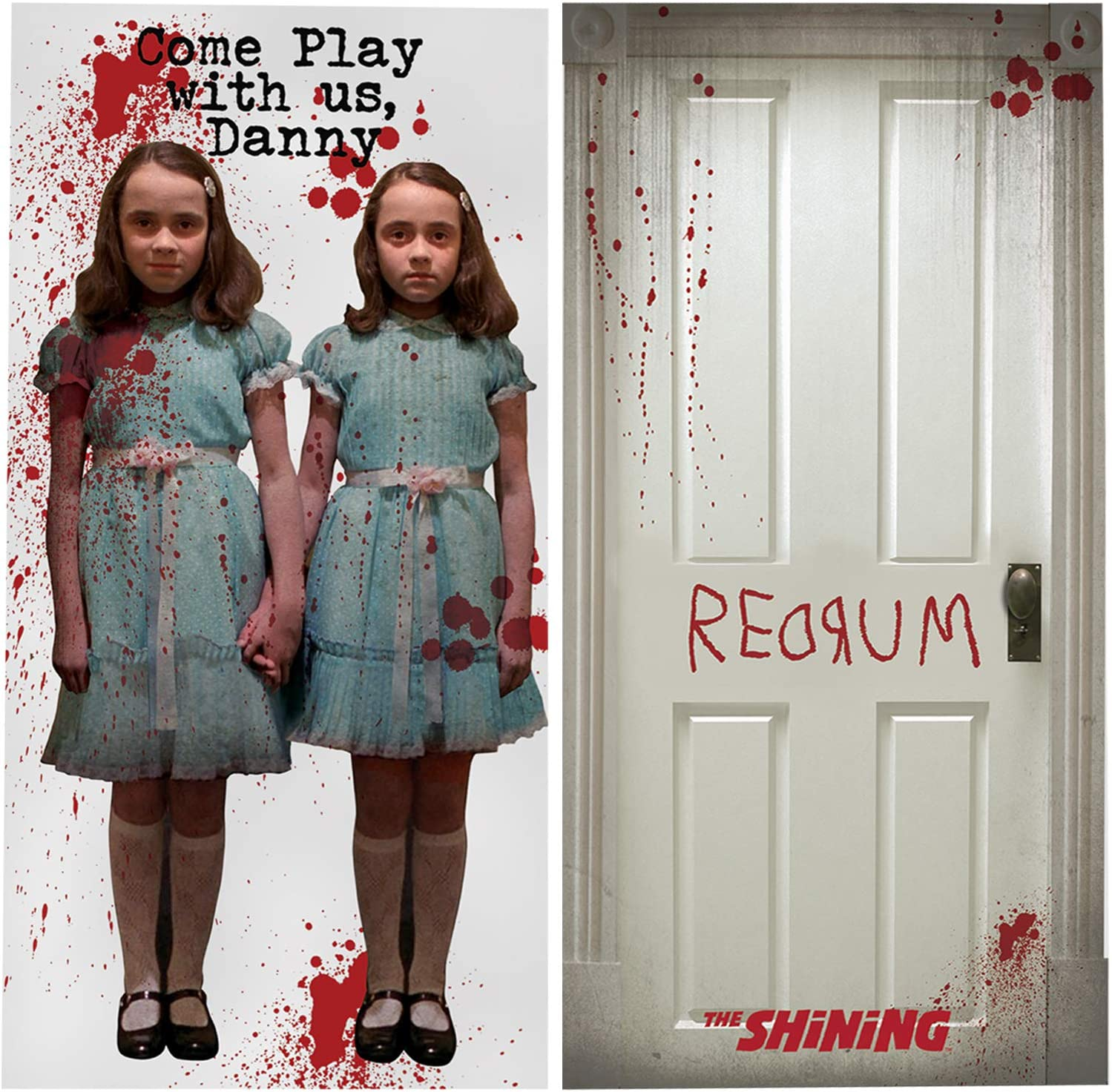 Amscan The Shining Scene Setters | 2 Pieces | Halloween Party Supplies, Horror House Decoration | Officially Licensed by Amscan