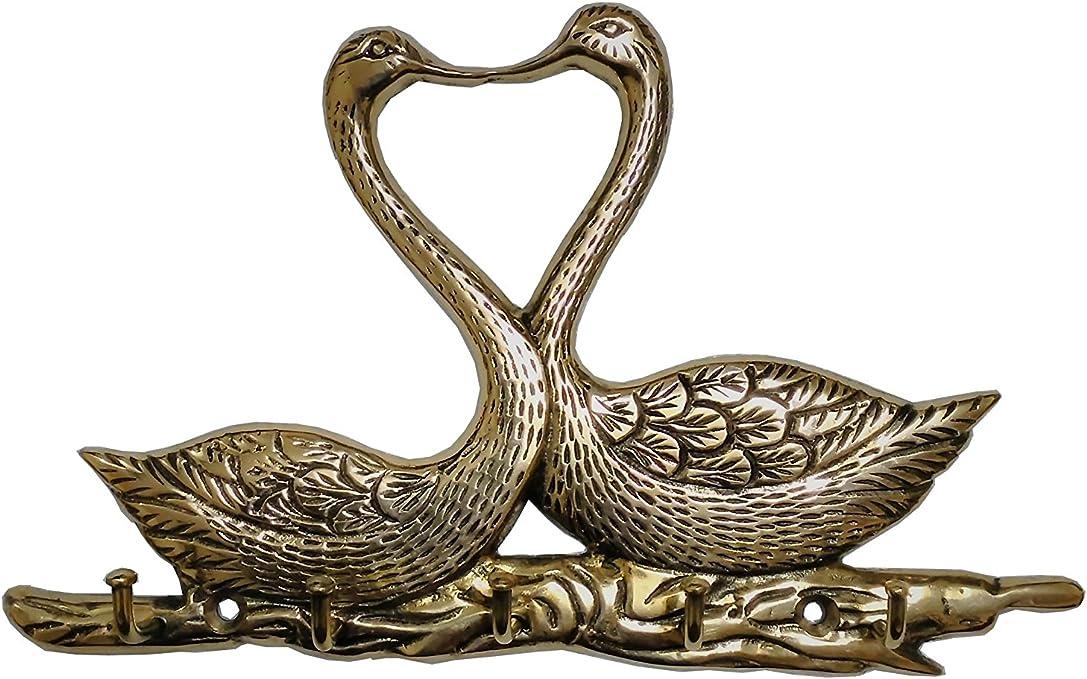 Royal Arts Duck Shape 5 Hooks Brass Key Holder Wall Key Holders