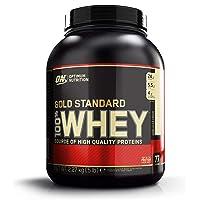 Optimum Nutrition Gold Standard Whey Protein Pulver (mit Glutamin und Aminosäuren. Eiweisspulver von ON) Vanilla Ice Cream, 73 Portionen, 2,27kg