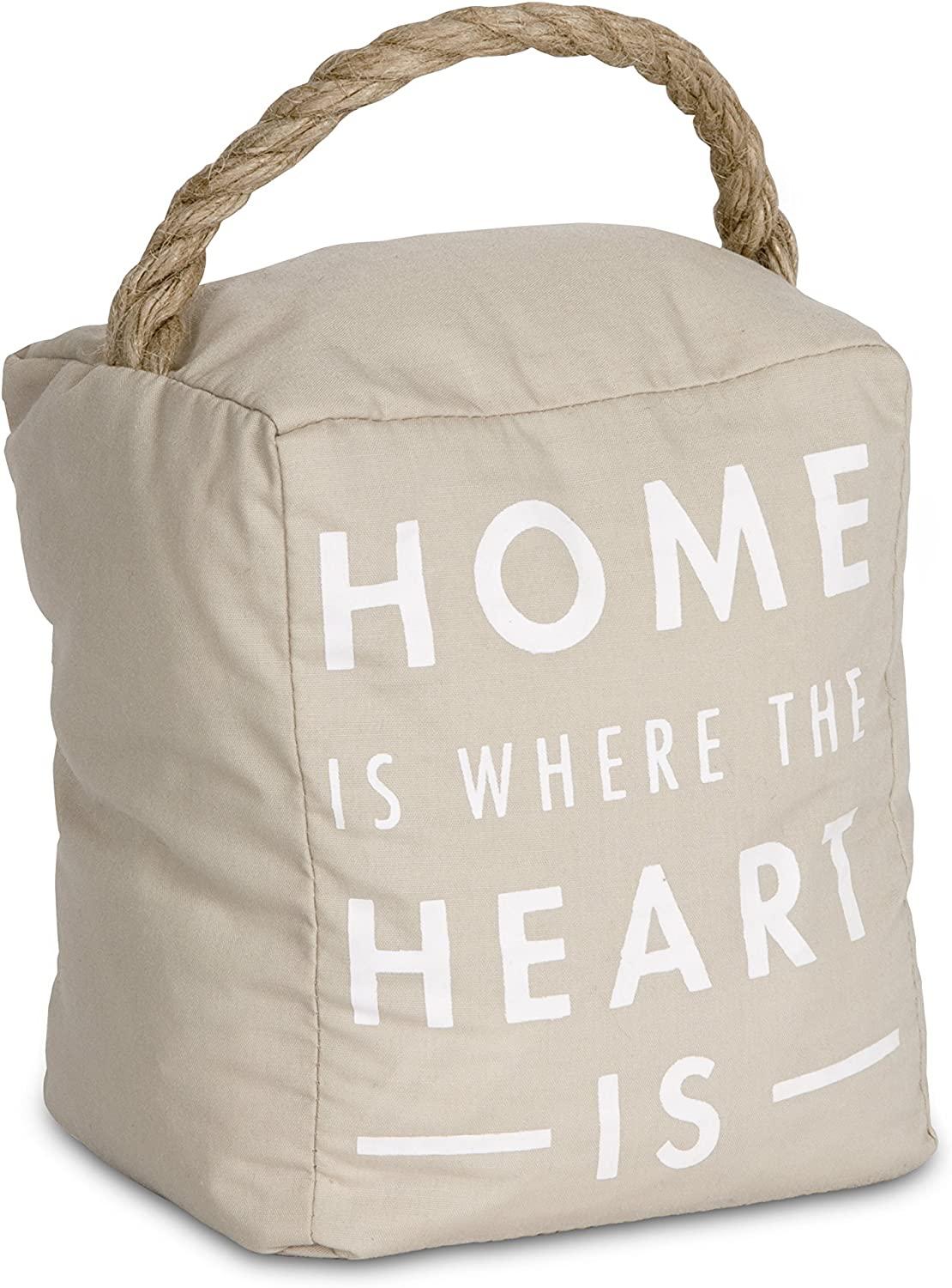 Pavilion Gift Company 72191 Home is Where The Heart is Door Stopper, 5 x 6