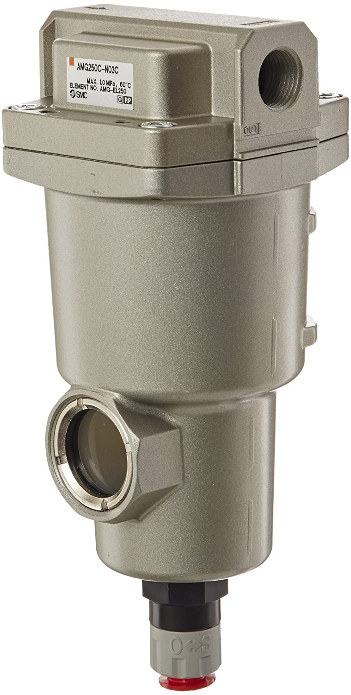 SMC AMG250C-N03C Water Separator, N.C. Auto Drain, 750 L/min, 3/8' NPT 3/8 NPT