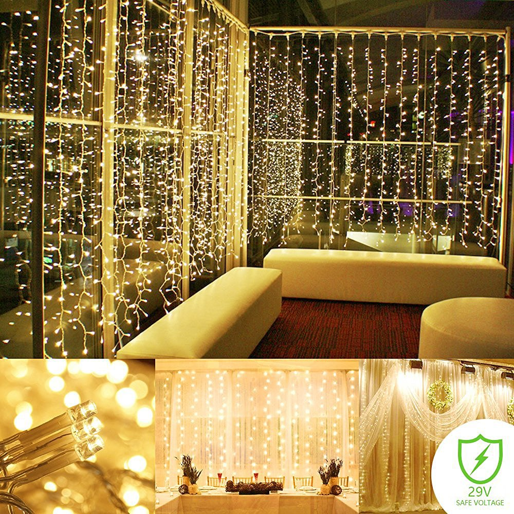 String Lights Indoor Bedroom : String lights Curtain, 300 LED Icicle Wall Lights, Fairy Indoor Starry... eBay