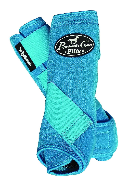 Professionals Choice 馬 スポーツ 医学 Ventech Elite レッグ ブーツ バリュー パック 4 個セット B00IEDMWTC Large|ブルー(Pacific Blue) ブルー(Pacific Blue) Large