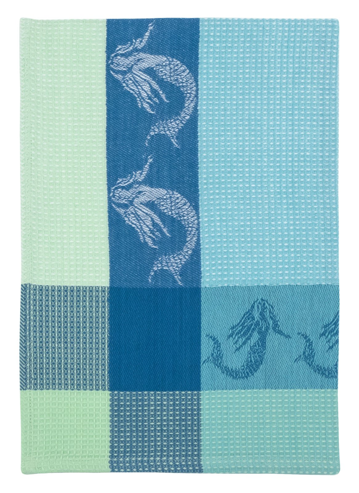 Traders and Company 100% Cotton Blue & White 20''x28'' Dish Towel, Set of 6 - Mermaid Marine by Traders and Company