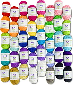 Mira Handcrafts 40 Assorted Colors Yarn Kit