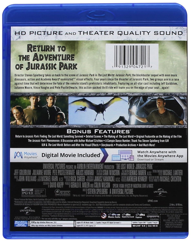 Amazon.com: The Lost World: Jurassic Park [Blu-ray]: Jeff Goldblum,  Julianne Moore, Pete Postlethwaite, Arliss Howard, Richard Attenborough,  Vince Vaughn, ...